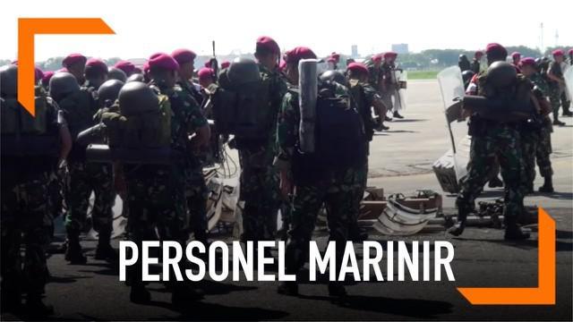1500 personel marinir diterbangkan ke Jakarta menggunakan 12 pesawar hercules. Mereka disiagakan untuk menjaga keamanan Jakarta usai pengumuman hasil pemilu 2019.