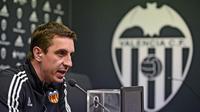 Pelatih Valencia asal Inggris, Gary Neville. (AFP/Jose Jordan)