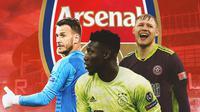 Arsenal - Neto, Andre Onana, Aaron Ramsdale (Bola.com/Adreanus Titus)