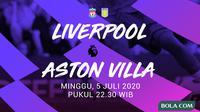 Premier League - Liverpool Vs Aston Villa (Bola.com/Adreanus Titus)