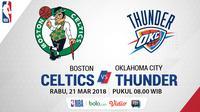 Boston Celtics Vs Oklahoma City Thunder (Bola.com/Adreanus Titus)