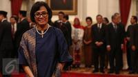 Sri Mulyani menjadi Menteri Keuangan menggantikan Bambang Brodjonegoro (Liputan6.com/Faizal Fanani)