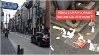 Viral, Sampah Bungkus Makanan Produk Indonesia Ditemukan di Jepang. (Sumber: Tiktok/@hassanhans)