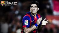 Penyerang Barca Luis Suarez (Liputan6.com/Yoshiro)