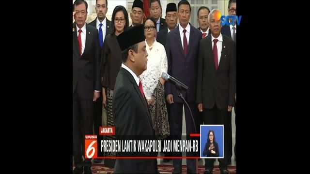 Dengan pelantikan ini, Komjen Syafruddin menjadi Menpan-RB ketiga dalam kabinet kerja 2014-2019.