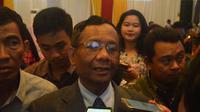 Mahfud MD ajak kalangan millennial berperan kokohkan bangsa dengan tidak melupakan sejarah (Liputan6.com/ Eka Hakim)