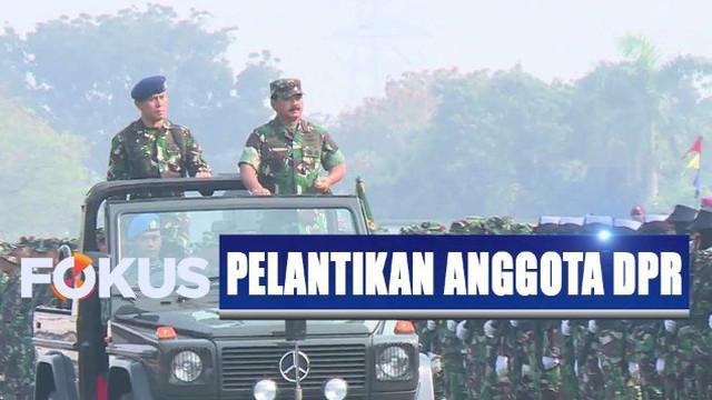 Dalam pelantikan DPR dan DPD 1 Oktober, penempatan pasukan TNI diperlebar hingga ke titik-titik yang sebelumnya tidak dijaga anggota TNI.