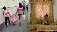 6 Momen Kocak Pakai Baju Kembar Sama dengan Barang Sekitar Ini Bikin Ketawa (sumber: Instagram.com/wkwkland_real dan Twitter.com/wahyuyordan)