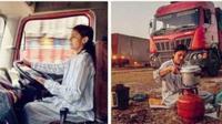 Yogita Raghuvanshi menjadi supir truk wanita pertama di India (Foto: ibt.co.in)