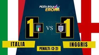Berita Video, Hasil Pertandingan Final Euro 2020 Antara Italia Vs Inggris pada, Senin (12/7/2021)