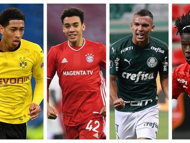 Kolase foto-foto deretan pemain muda yang diprediksi akan menjadi pemain bintang  dimasa akan datang. (Foto: AFP)
