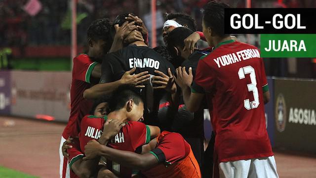 Berita video gol-gol Timnas Indonesia U-16 yang mengantarkan mereka untuk menjadi juara Piala AFF U-16 2018.