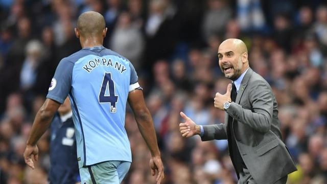 Vincent Kompany & Pep Guardiola