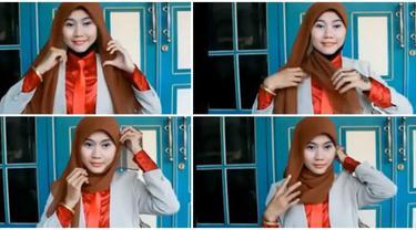 Video Tutorial Hijab Segi Empat Praktis Mudah Dan Cepat Beauty Fimela Com