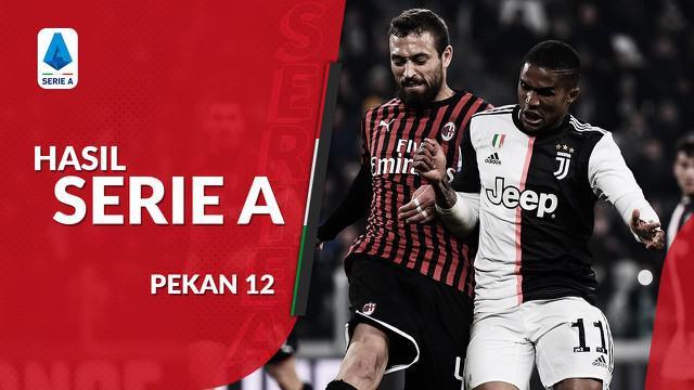 Berita video hasil Serie A 2019-2020 pekan ke-12. Juventus menang tipis 1-0 atas AC Milan.