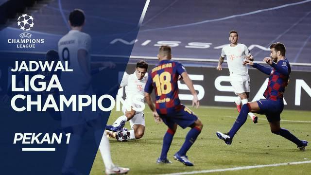 Berita Video, Jadwal Liga Champions Pekan 1, Barcelona Hadapi Bayern Munchen