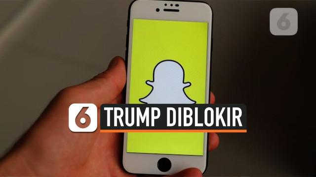 Aplikasi berbagi video dan foto, Snapchat, mengumumkan akan memblokir secara permanen akun Donald Trump tepat pada hari pelantikan Joe Biden-Kamala Harris pada 20 Januari mendatang.