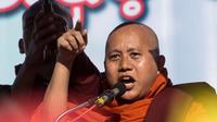 Biksu Buddha Wirathu. (AFP)