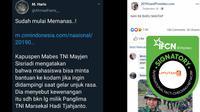 Cek Fakta: pernyataan Kapuspen TNI Mayjen Sisriadi  (Facebook)