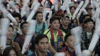 SCTV bekerja sama dengan La Liga menyelenggarakan acara nonton bareng laga El Clasico antara Barcelona Vs Real Madrid di Summarecon Mal Serpong, Minggu (28/10/2018). (Bola.com/Reza Bachtiar))