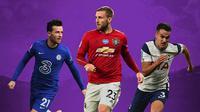 Premier League - Ben Chilwell, Luke Shaw, Sergio Reguilon (Bola.com/Adreanus Titus)