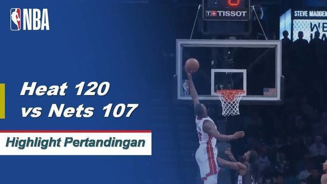 Tyler Johnson meletus dari bangku cadangan dengan 24 poin sementara Hassan Whiteside chip dalam double-double dalam kemenangan 120-107 Heat atas Nets. Spencer Dinwiddie mencetak 18 poin dari bangku cadangan untuk Brooklyn dalam kekalahan.