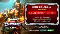 Live Streaming Vidio Community Cup Season 6 : Free Fire Series 6. (Sumber : dok. vidio.com)