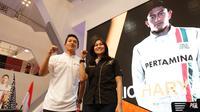 Manajemen Rio Haryanto mulai bergerilya mencari tim baru untuk pelabuhan baru di ajang F1 musim depan. (Bola.com/Arief Baus Prasetiyo)