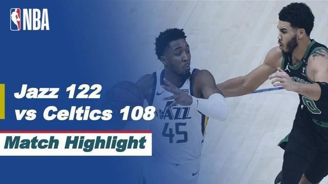 Berita video highlights NBA 2020/2021 antara Utah Jazz melawan Boston Celtics yang berakhir dengan skor 122-108, Rabu (10/2/2021) siang hari WIB.