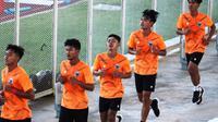 Timnas Indonesia U-19 memulai latihan perdana pada pemusatan latihan di Jakarta dengan melahap menu daya tahan (endurance). (dok. PSSI)