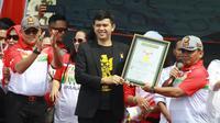 Polda Kepri Pecahkan Rekor Muri Perpanjang SIM di Acara MRSF. (Liputan6.com/Nafiysul Qodar)