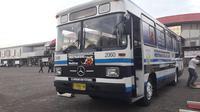 Bus Mercedes-Benz DAMRI cabang Bandung tahun 1988 (Yurike/Liputan6.com)