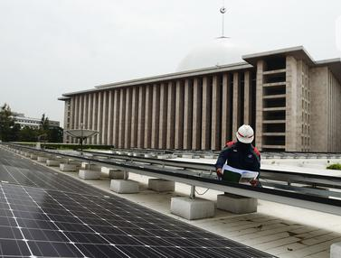 Pencahayaan Masjid Istiqlal Gunakan Energi Ramah Lingkungan