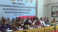 Enam lembaga negara menggelar pelatihan bersama peningkatan kapasitas penegak hukum dalam penanganan tindak pidana korupsi di Kota Bogor, Senin (23/5/2016). (Liputan6.com/Achmad Sudarno)