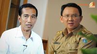 Gubernur dan Wakil Gubernur DKI Jakarta, Joko Widodo dan Basuki Tjahaja Purnama. (Liputan6.com/Faisal R Syam/Herman Zakharia)