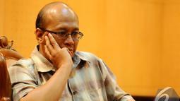 Firmansyah Arifin (Indonesian Legal Roundtable) saat menjadi pembicara di Gedung MPR RI, Jakarta, Senin (15/12/2014). (Liputan6.com/Andrian M Tunay)