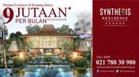Synthesis Development menghadirkan Synthesis Residence Kemang apartemen di kawasan Kemang, di Jalan Ampera Raya No. 1A, Jakarta Selatan.