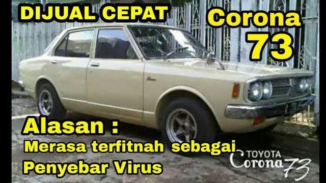 Meme Otomotif Pekan Ini Corona Dijual Karena Merasa Terfitnah