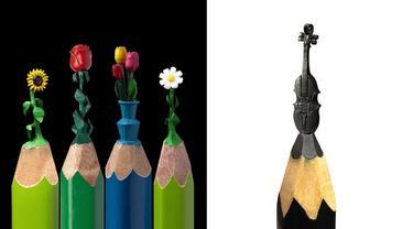 Ciptakan Miniatur Unik di Ujung Pensil, 6 Karya Seniman Ini Mengagumkan