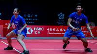Praveen Jordan/ Melati Daeva Oktavianti belum meraih kemenangan dalam dua laga di penyisihan grup BWF World Tour Finals 2019. (PBSI)