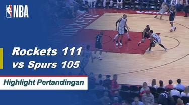 James Harden mencetak 61 poin saat Rockets mendapatkan kemenangan atas Spurs, 111-105.