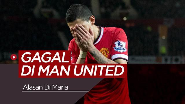 Berita video kegagalan Angel Di Maria saat berseragam Manchester United.