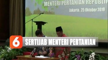 Kementerian Pertanian menggelar serah terima jabatan dari Andi Amran Sulaiman kepada Syahrul Yasin Limpo.