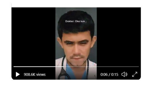 Koalisi Masyarakat Sipil Anti Kekerasan Seksual atau Kompaks berharap MKEK mencabut SIP dr Kevin Samuel Marpaung lantaran telah membuat video 'persalinan' di TikTok yang dinilai melecahkan (Tangkapan Layar)
