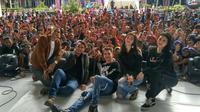 Acara jumpa fans pemain sinetron Anak Langit di Surabaya. foto: Instagram (@sctv)
