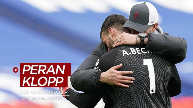 Berit video Manajer Liverpool, Jurgen Klopp, melontarkan komentar soal perannya dalam gol Alisson Becker ke gawang West Bromwich Albion di Liga Inggris.