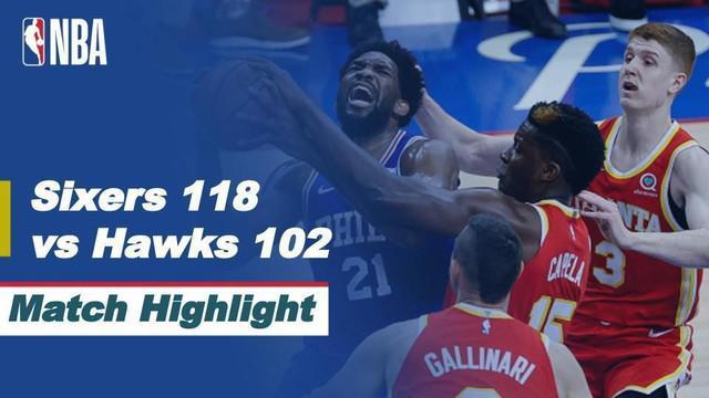 Berita video highlights game 2 semifinal wilayah timur NBA Playoffs 2021 antara Philadelphia 76ers melawan Atlanta Hawks yang berakhir dengan skor 118-102, Rabu (9/6/2021) pagi hari WIB.