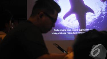 Jelang Hari Paus Internasional, WWF Indonesia luncurkan buku, Jakarta, Jumat (29/8) (Liputan6.com/Johan Tallo)