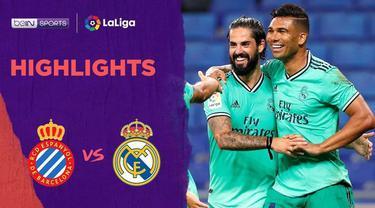 Berita video highlights pekan ke-32 La Liga 2019-202, di mana Real Madrid meraih tiga poin di kandang Espanyol berkat assist indah Karim Benzema, Senin (29/6/2020) dini hari WIB.