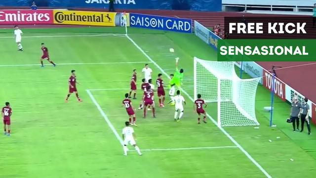 Berita video gol-gol Timnas Indonesia U-19 ke gawang Qatar U-19 dengan free kick yang sensasional pada laga kedua Grup A Piala AFC U-19 2018 di SUGBK, Senayan, Jakarta, Minggu (21/10/2018).